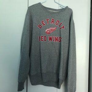 MENS (unisex) red wings sweatshirt